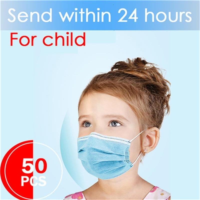 Profession Child Kids Boy Girl 100pcs/pack 3-ply Pm2.5 Nonwoven Disposable Breathable Children Face Mask