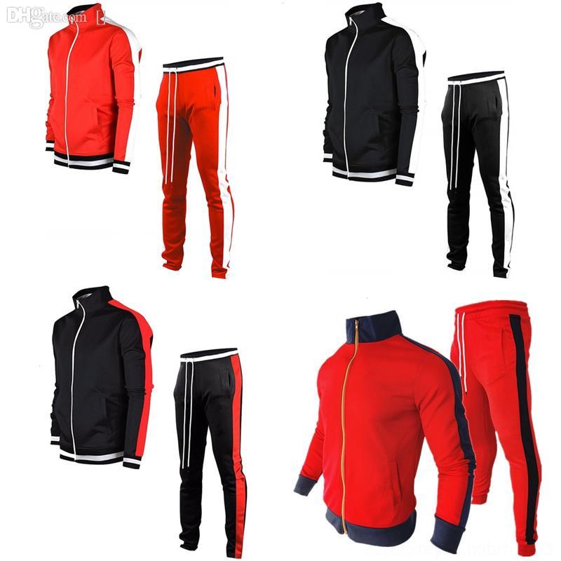 asolo otoño color coincidencia a cuadros suéter stand collar jersey coreano marca delgado casual masculino tops moda ropa jersey hombres