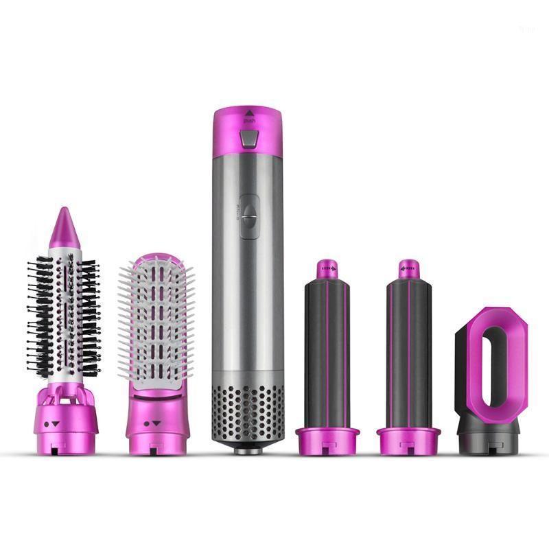 5 in 1 spazzola per capelli rotante automatica aria calda per soffiaggio a secco onde riccioli un passo capelli stiliera1