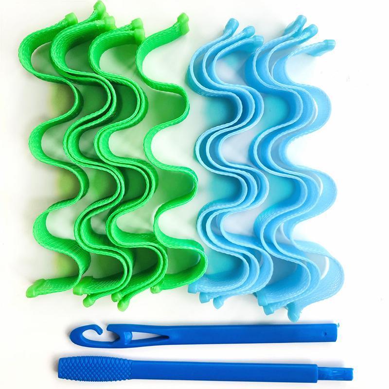 Piastre per capelli 24 pz 30 cm / rulli 50 cm rulli durevoli Spiral Acconciatura Acconciatura Rullo Sticks Fai da te Shail Shape Burler Wave Styler