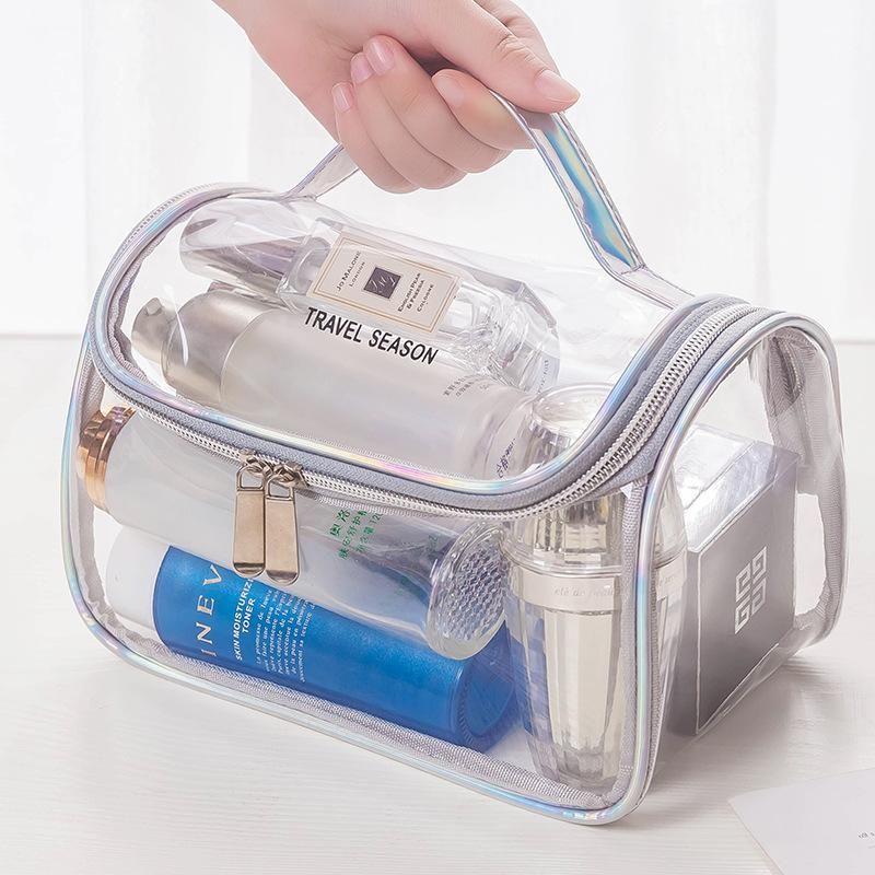 2020 Mode Transparente Reise Organizer Klar Makeup Bag Kosmetikerin Kosmetiktasche Beauty Case Make up Beutel Waschbeutel