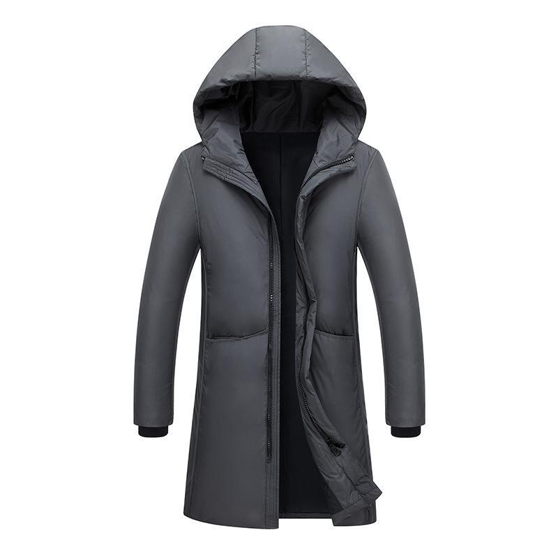 Осенью и зима новый стиль толстый пуховик длинный с капюшоном хлопчатобумажным одеждами мужская Гонконг-стиль вскользь