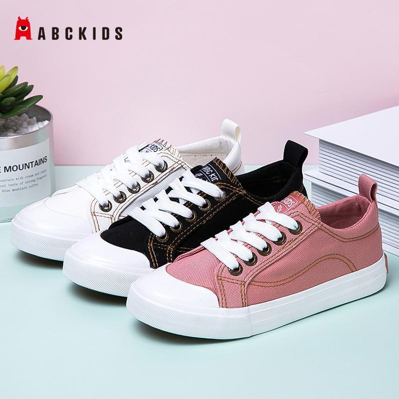 ABCkids Autumn New Children Canvas Shoes Girls Sneakers Breathable Spring Fashion Kids Shoes For Boys Casual Student