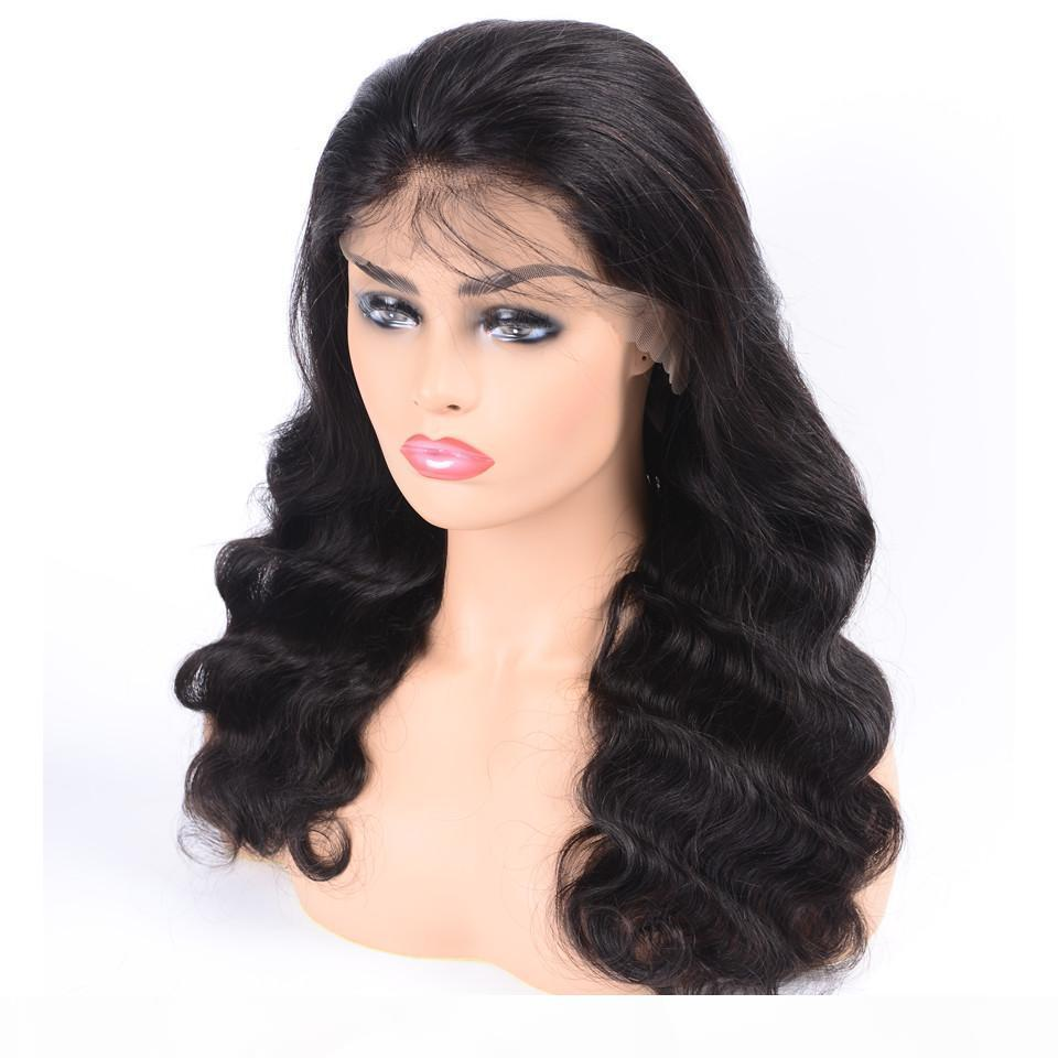 Körperwellen Gefälschte Kopfhaut Spitze Perücken Unverarbeitete brasilianische Reinheit Haar Frontal 13x6 Frontspitze Menschliches Haar Perücke Lacefront Vorgepuckter gebleichter Knoten