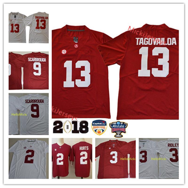 2021 Mens NCAA Alabama Crimson Tide Jalen Hurt Football Jersey#3 ...