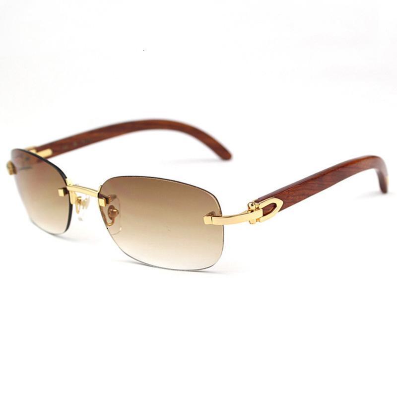 Carter Sunglass Klasik Ahşap Vintage Buff Güneş Gözlüğü Shades Rastgele Sürüş GIHC Açık Altın Lüks Beyler Hqrui