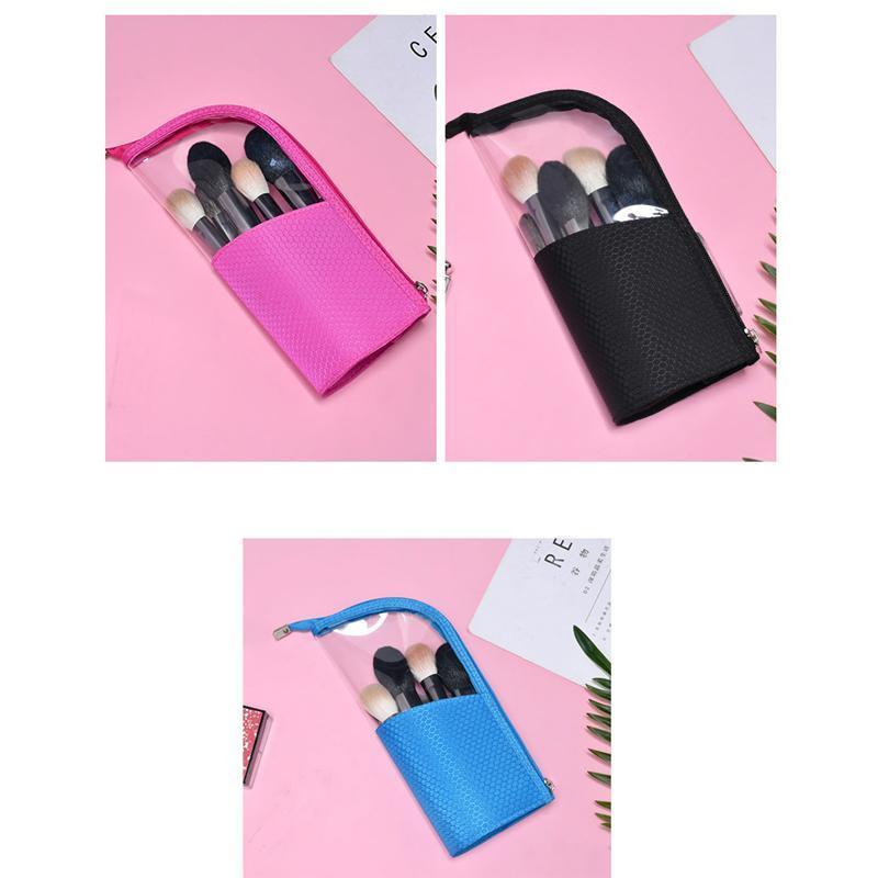 Bolsa de cosméticos de viaje de estilo corea Transparente Pequeño bolso cosmético necesario Paquete de cosméticos necesarios Una variedad de colores disponibles