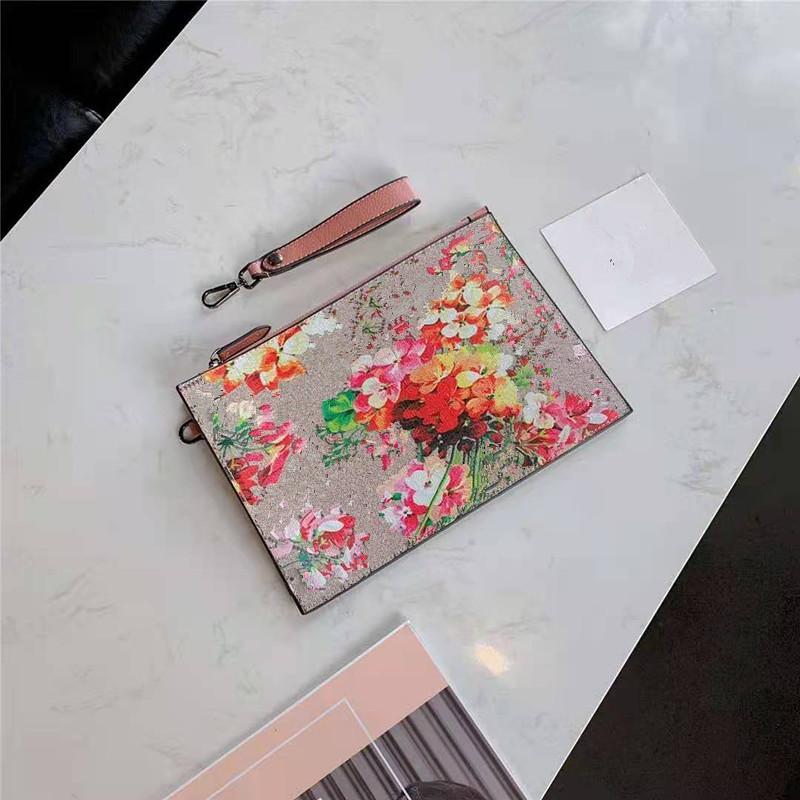GRASP Messenger Hülle Neue Druck Freizeit Münze Handtasche Handtasche Hand Für Tasche Geldbörse Handtaschen Brieftasche Frauen Weibliche Blume Reißverschluss Kupplung B CCTG