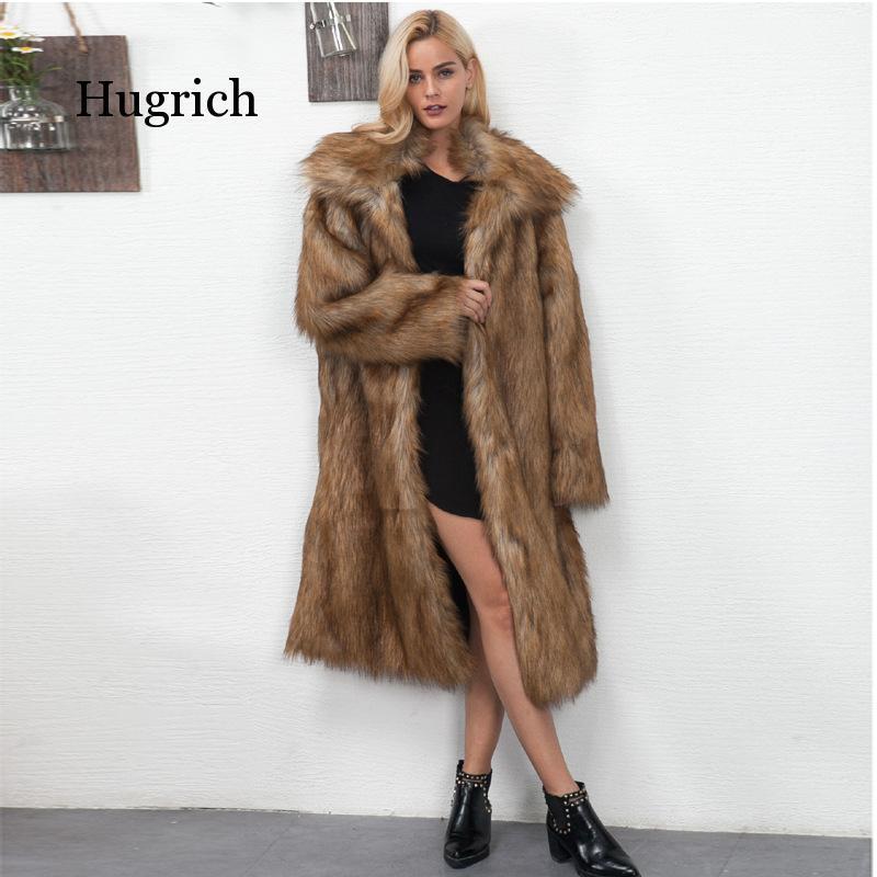 Женский меховой из искусственной моды квадратный воротник длинный стиль как пальто утолщенного рукава ветровка для женщин осенью / зима 2021