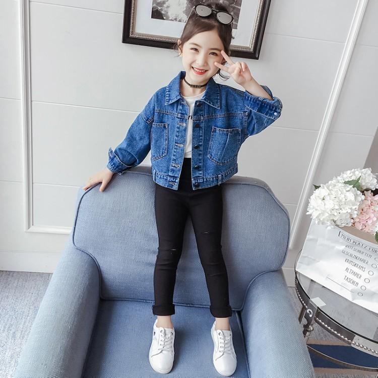 Kızın Denim Ceket 2020 Yeni Net Kırmızı Bahar Kore Kısa Kızların Üst Moda