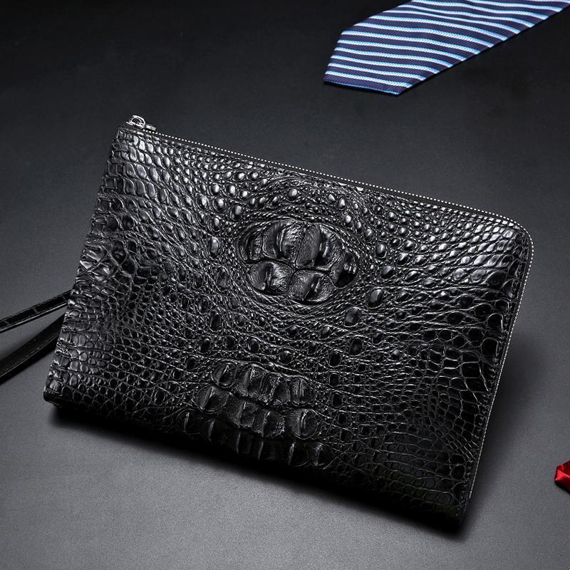 Debriyaj kahverengi stil timsah çanta marka cüzdan moda erkek yüksek kaliteli çanta lüks avrupa çantalar tasarımcı hediye deri bbaqq