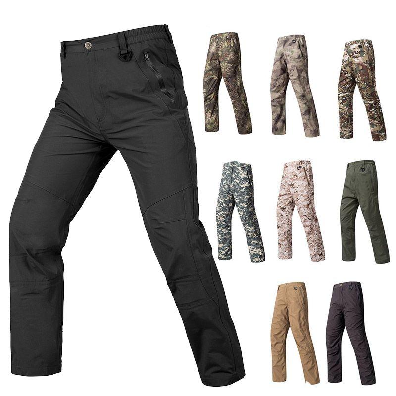 Sports de plein air Sports Woodland Chasse Tirage Tactique Camo Pantalon Combat Vêtements Pantalons de camouflage Hardshell Pantalons en plein air SO05-206