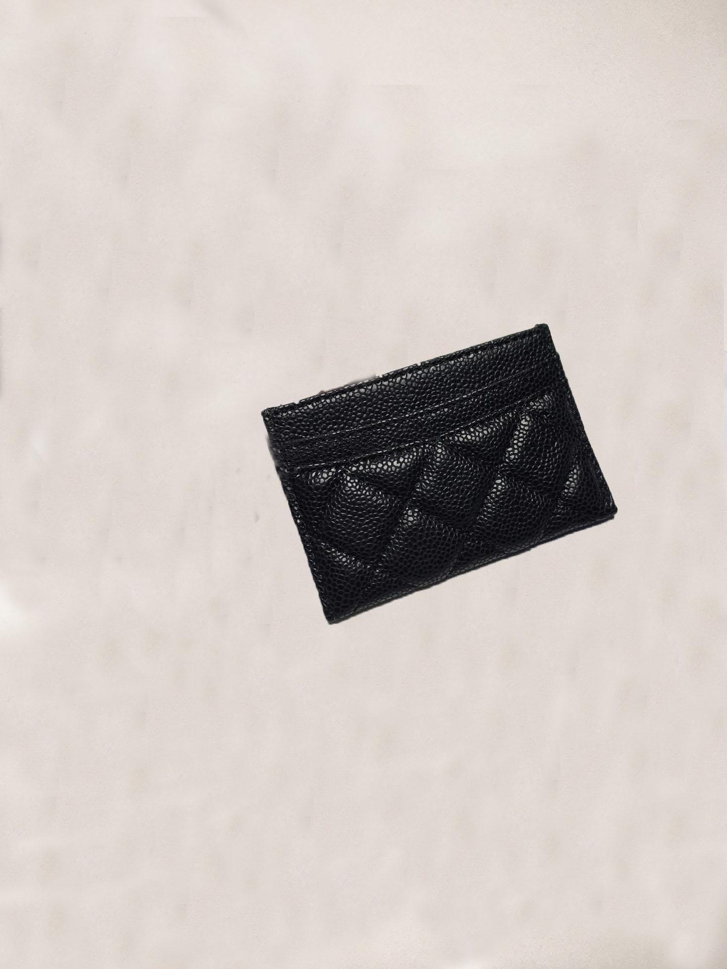 Top Quality Girls and Ladies Classic Casual Carta di credito Porta carte da bovina in pelle di vacchetta Ultra Slim Portafanico Borsa per uomo Donna W7.5 * 11.2 * 0.5cm