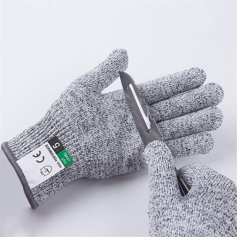 Level 5 Cut-Proof-Proof-stabresistenter Draht-Metallhandschuh-Küchen-Butcher schneidet Handschuhe für Austern, die Fischgarten-Sicherheitshandschuhe shicking