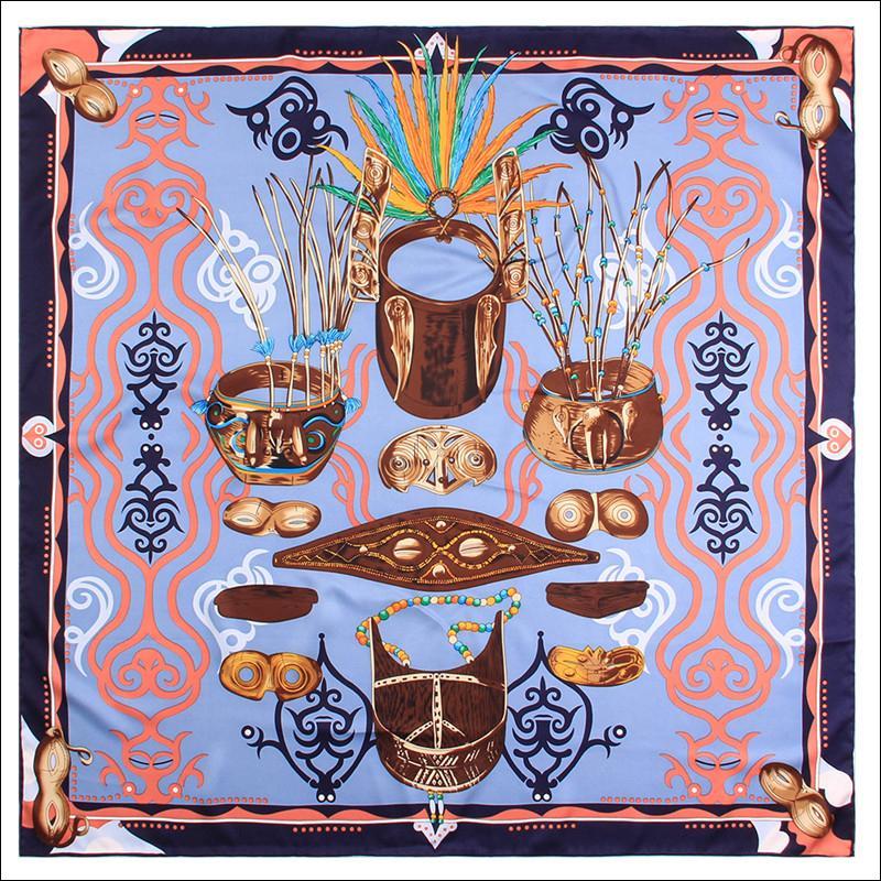 Écharpe de soie Écharpe 90 * 90 Châle carré Tombe à double face Peller Wrard Wrard pour Femmes Lady Livraison Gratuite