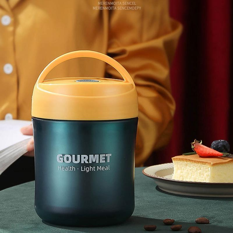 Hot Jar Lunch Container Stainless Steel With Lid School Office Outdoor Picnic Portable Insulated Vacuum Soup Cup Leak Proof