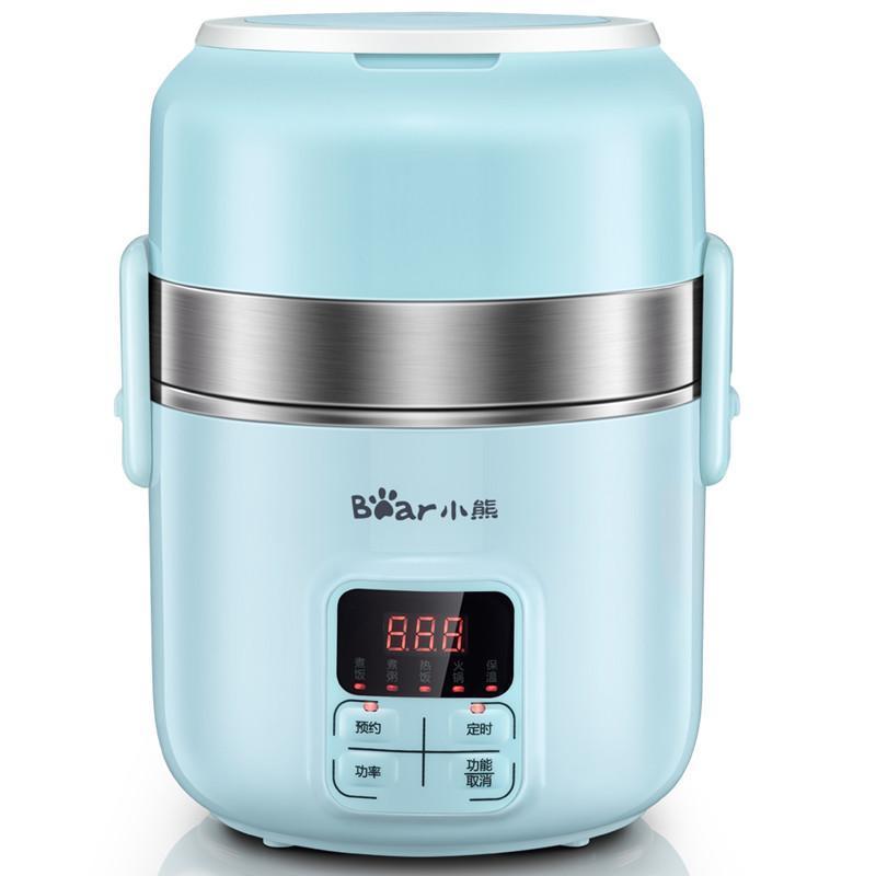 Cuisinière de riz intelligente double couche électrique boîte de lunch boîte de bricolage bureau réservation étudiant timing timing portable cuisson cuisson vapeur