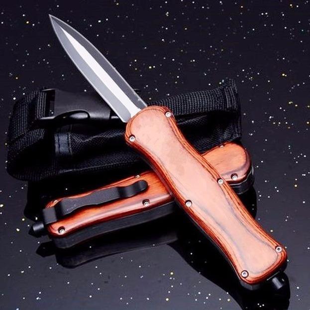 Butterfly A016 166 Red 9inch Doble Acción Doble Bolsillo Plegable Survival Cuchillo Caza Automática Auto Cuchillos Navidad Regalo Cuchillo