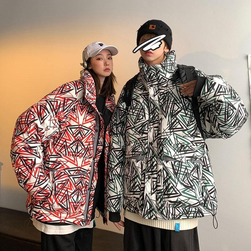 Winter lovers' down jacket men's short fashion brand thickened and warm Korean fashion cool loose light coat