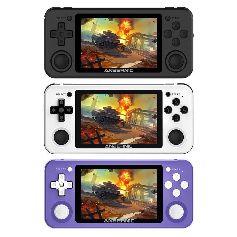 POWKIDDY RG351P Портативный 3,5-дюймовый IPS 2500 Видеоигры Player Player Player Source System Vibration Motor Handheld для игровой консоли PSP