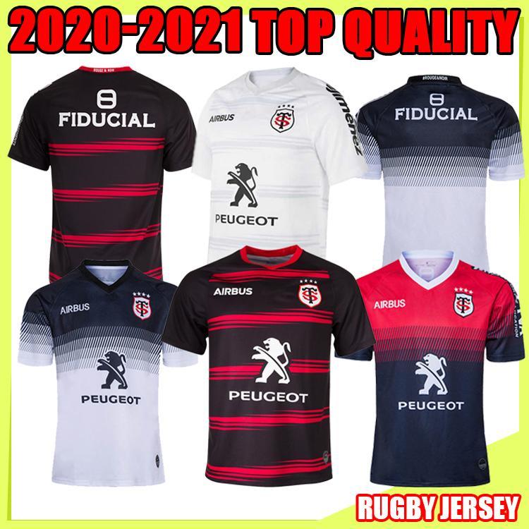 Top Toulouse Munster City Rugby Jerseys 20 21 الصفحة الرئيسية Stade Toolousain 2020 League Jersey Lentulus قميص الترفيه التدريب الرياضي S-5X