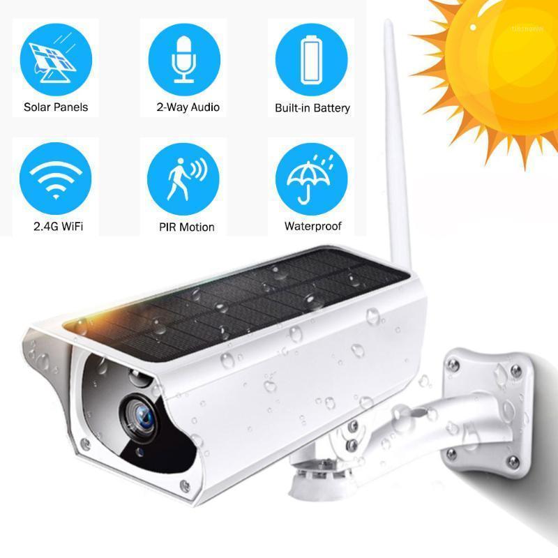 الكاميرات الشمسية لوحة wifi كاميرا 1080 وعاء hd اللاسلكية IP في الهواء الطلق IP67 للماء 2MP الأمن cctv pir اتجاهين مراقبة 1