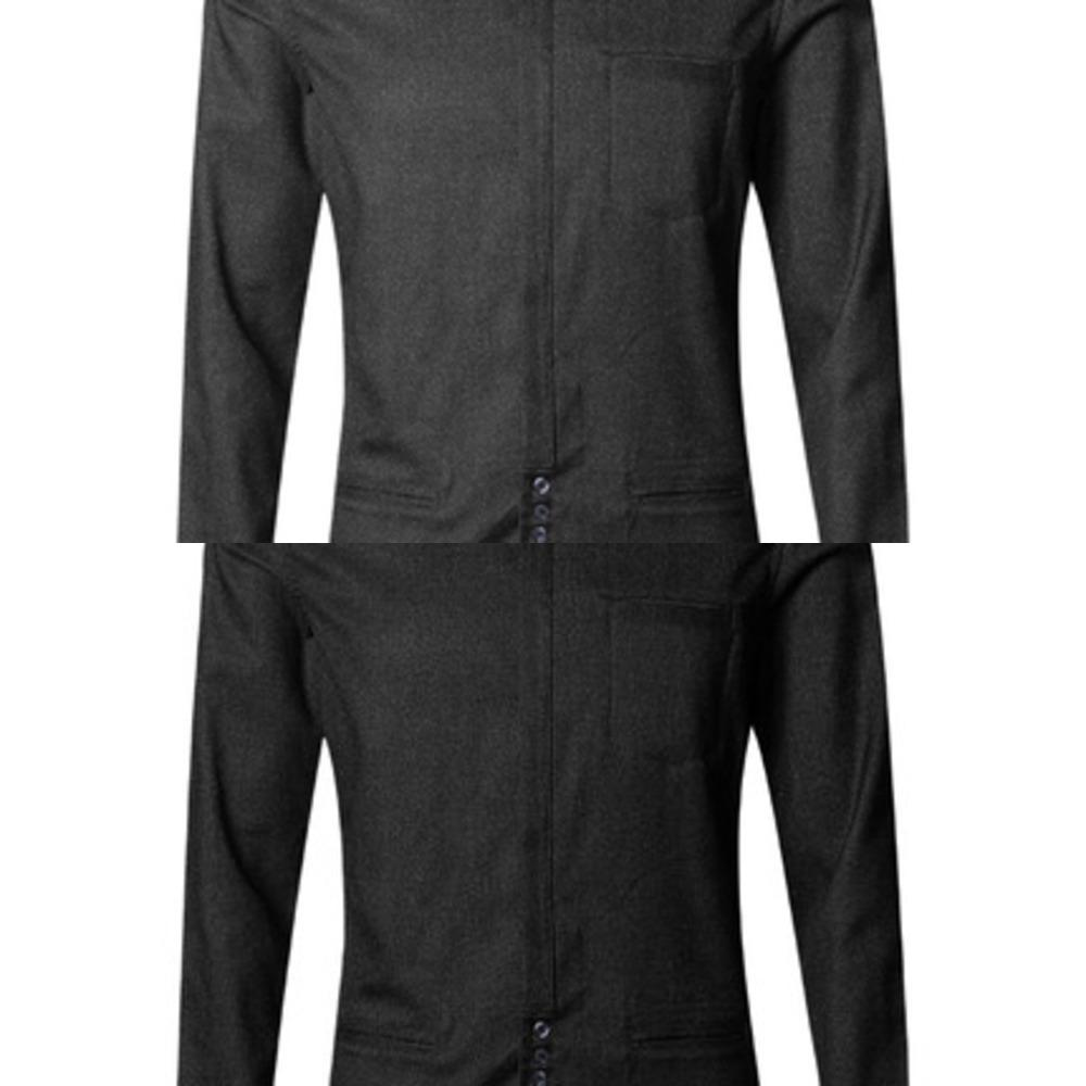 Мужской тонкий толстый европейский стиль зима с длинным рукавом повседневная рубашка бизнес темно-серый бренд растягивается новая рубашка для джентльмена S906-3 C1211