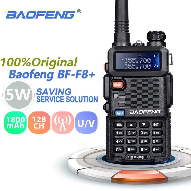 BAOFENG BF-F8 + WALKIE TALKIE TALKIE 5W VHFUHF PROFESSIONALE DUAL BAND BAND TWA WAY STATION PRECEDENTE TRASCESSEIVER BFF8 + F8 HAM Radio Comunicador