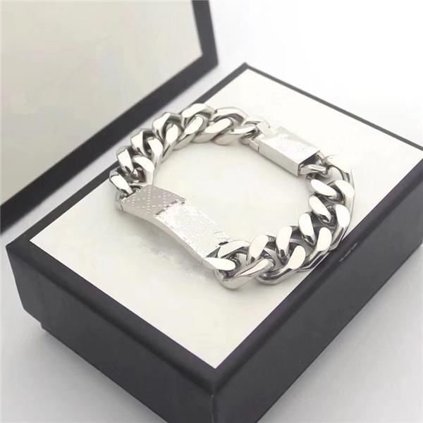 Fashion Unisex Jewelry Braccialetti in acciaio inox Braccialetti Pulseiras Lettera Bracciali per uomo e donne senza scatola
