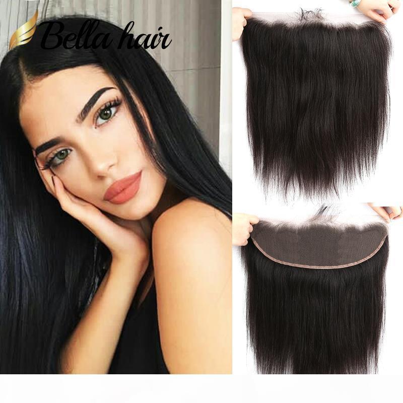 HD Lace frontais 13x4 descorados Nós Hetero indiana da Malásia peruana brasileiro do cabelo humano Frontais Natural Color Bella cabelo grátis