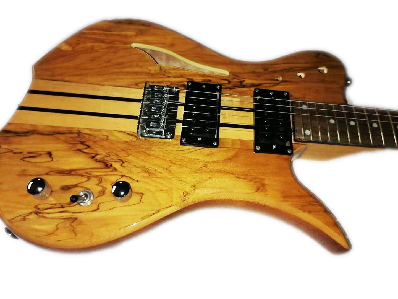 Yarı Hollow Vücut Kilitleme Tuner Boyun-Thru ile Yepyeni Elektro Gitar