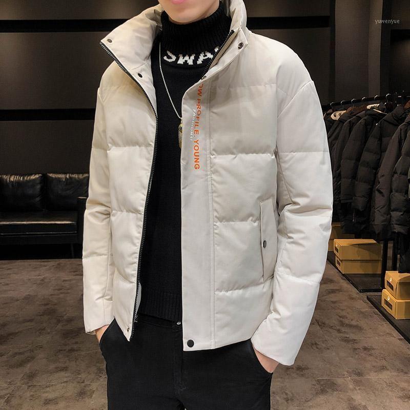 Горячие Продажи Зимний Человек Пальто Мода Печать Мужские Пальто Ветрозащитный Худушевый Черный Хаки Желтый М-4XL Зимняя Одежда MEN1
