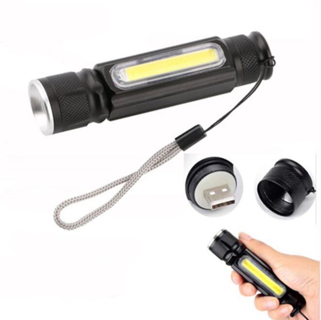 Espiga LED Mini Inspeção de Trabalho Lanterna T6 Lanterna Com Ímã Multifuncional Manutenção Lanterna Mão Tocha Torchas Usb Portáteis