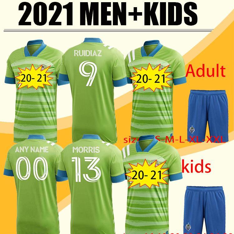 2012 2021 New Seattle Sounders FC Away Jersey Kits 20 21 Home Ruidiaz Morris Dempsey Torres Jerseys Kit de futebol