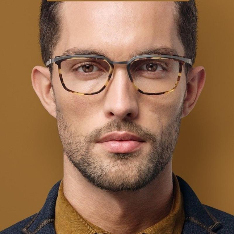 9907 2020 hombres Gafas de titanio óptico Vintage Square Pure Pure Myopia Prescripción Eyewear Tornillo No New Frame Designer BSAIO