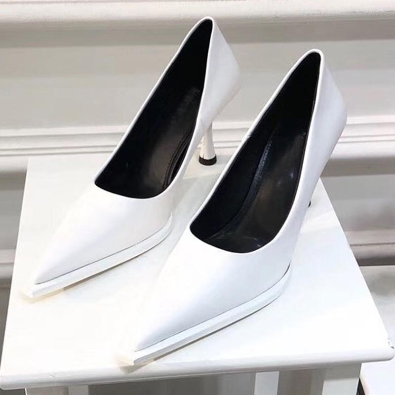 Frauen Luxus Design Pumps Weiß 8cm High Heels Sexy Scarpins Büro Dame Party Hochzeit Prom Weibliche Plattform Heels SchuheMultifunktions