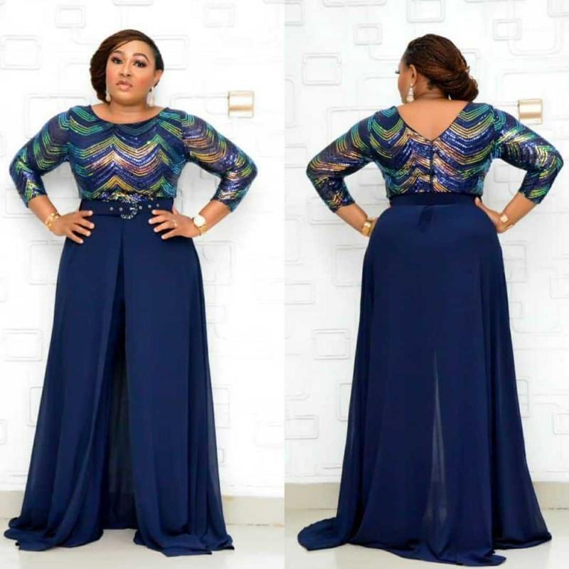 Roupas africanas para mulheres 2020 Design Bazin Dashiki para Lady Jumpsuit Elegante Elegante Jumpsuit Feminino Macacões África Vestuário1