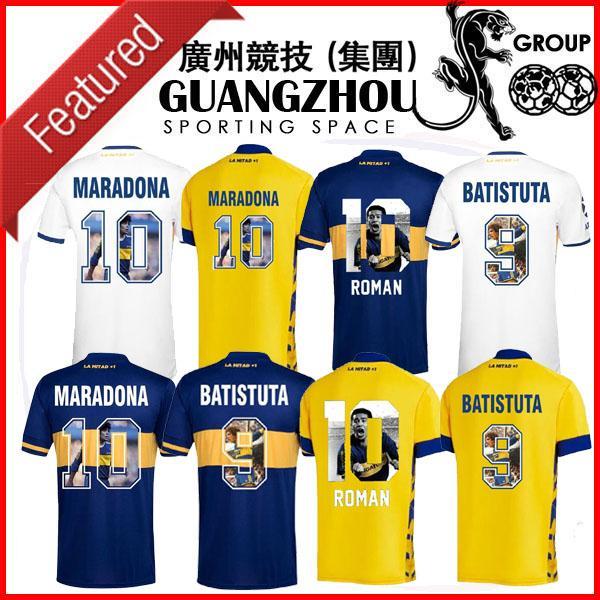 2020 2021 Boca Roman 10 Juniors Gallery Style Spécial Soccer Jerseys Battistuta 9 Maradona 10 Accueil Troisième Jersey 20 21 Chemises de football