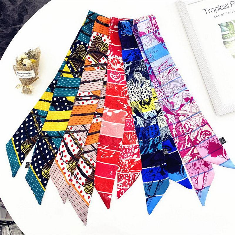 2021 high-end kadın moda tasarımları bağlı çanta eşarp bayanlar küçük yay şerit başörtüsü ipek eşarplar wrap