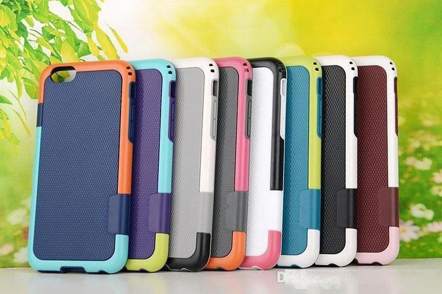 Ağır Hizmet Hibrid Darbeli Darbeye Dayanıklı Zırh Sağlam Kılıf Iphone X 7 8 6 S 6 5 Artı Sert PC Yumuşak TPU Kauçuk Silikon Arka Kapak