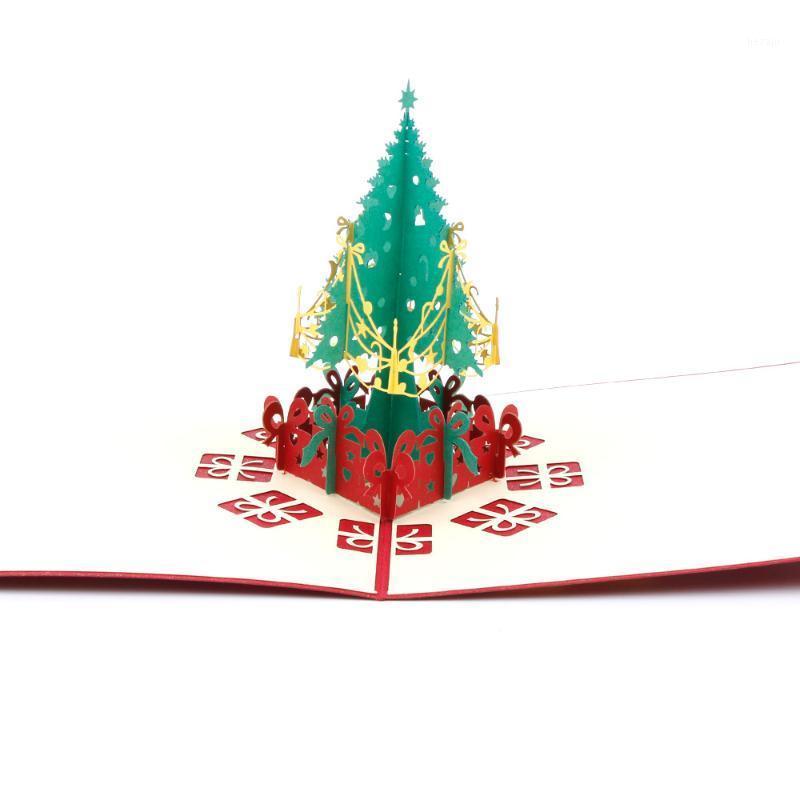 1 stück Weihnachtsbaum Musik Klavierbrücke Kleidung Segelboot Grußkarte Laser Schnitt Umschlag Postkarte Handgemachtes Kirigami Geschenk NEU1