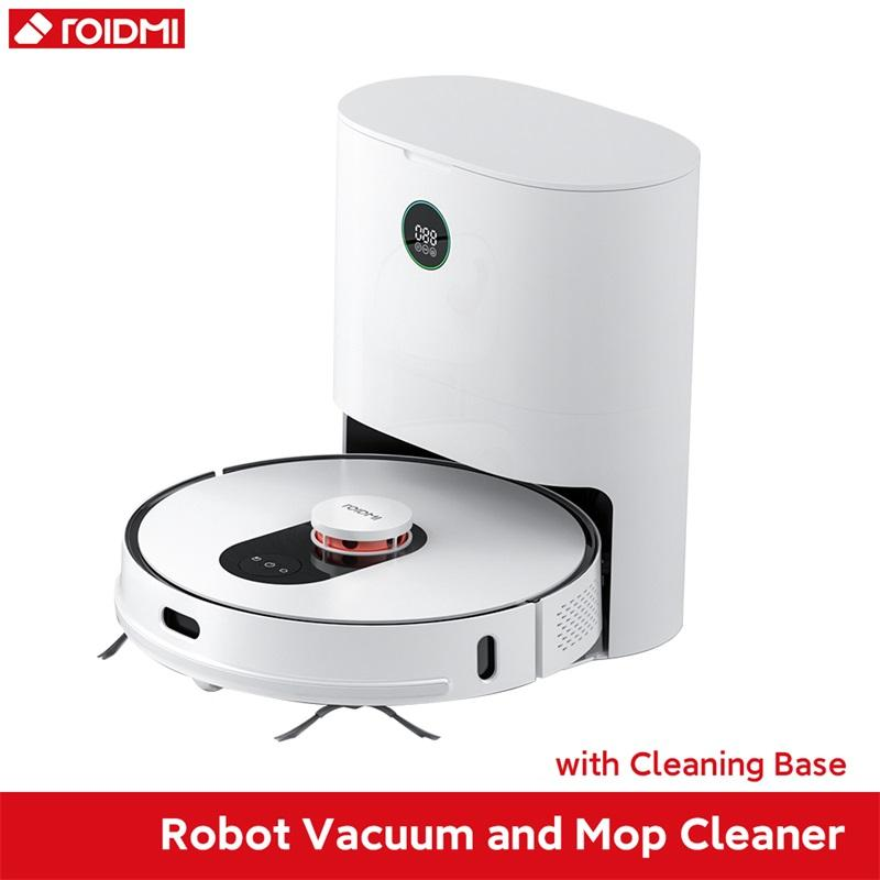 ROIDMI EVE Plus 2700Pa LDS Laser Navigation Robot Vacuum Mop Cleaner, APP Virtual Wall,2cm Climbing,Multi-Layer Map