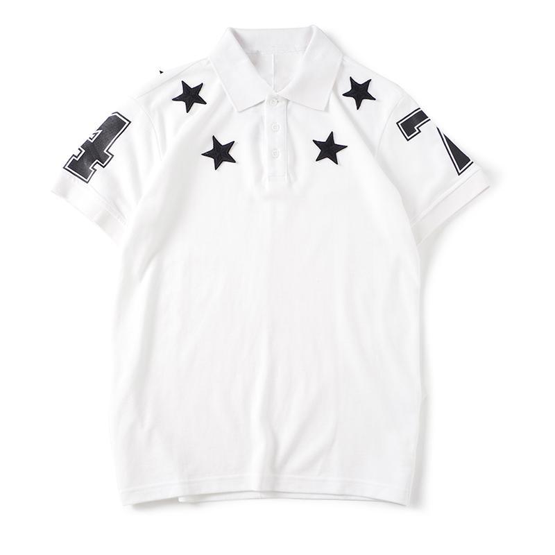 New Arrival Mens T Shirts Fashion Men Women Shirts Star Pattern Print Stylist Tees Size S-XXL