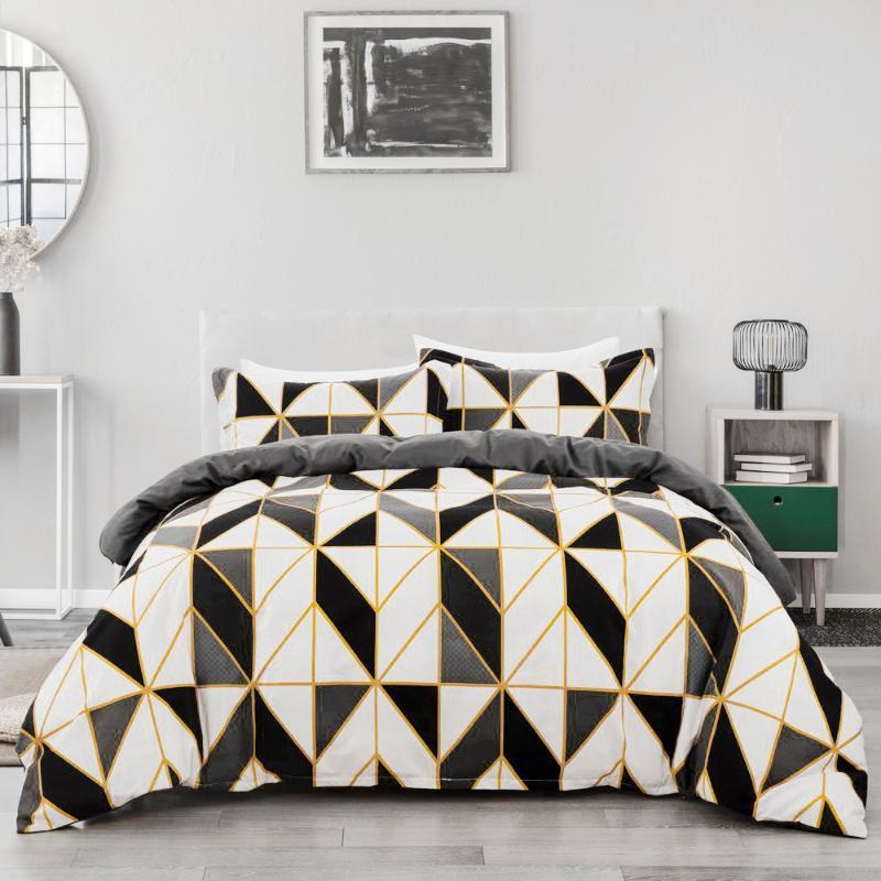 Breve stile Geometrico Set di biancheria da letto Set Federa US Twin UE Doppio Comforter Trapunta Copertura Home Decor Adulti Bed Duvet Cover Set