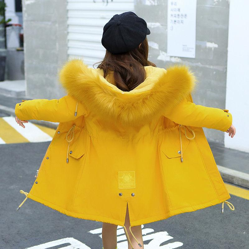 OLEKID 2020 Русский Зимняя куртка для девочек плюс бархат Теплый капюшоном детей Верхняя одежда пальто 7-14 лет Дети девочки-подростки PARKAS Y1113