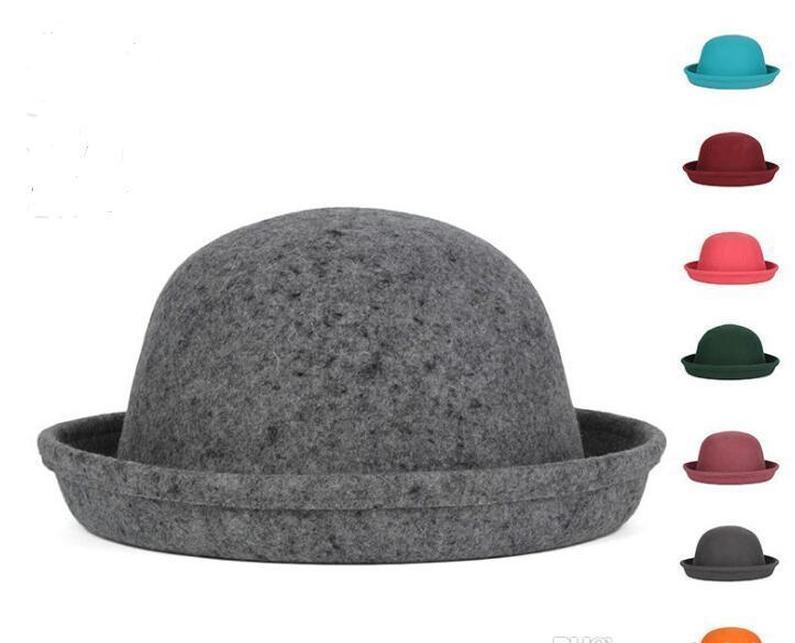 Cap Ladies Dome 5pcs/lot Small Solid Girl's Hot In Color Autumn Drop Stock 56-58cm Hat Pure Hat 8 Wool Top Colors Winter Hats Women's bbyeE