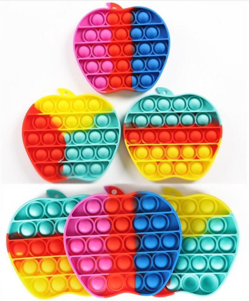 Colorido Pop Fidget Toy Sensory Rainbow Push Pop Bolha Brinquedo Decompression Toy Autismo Precisa Especial Necessidades de Ansiedade Relisor para Crianças Adultos