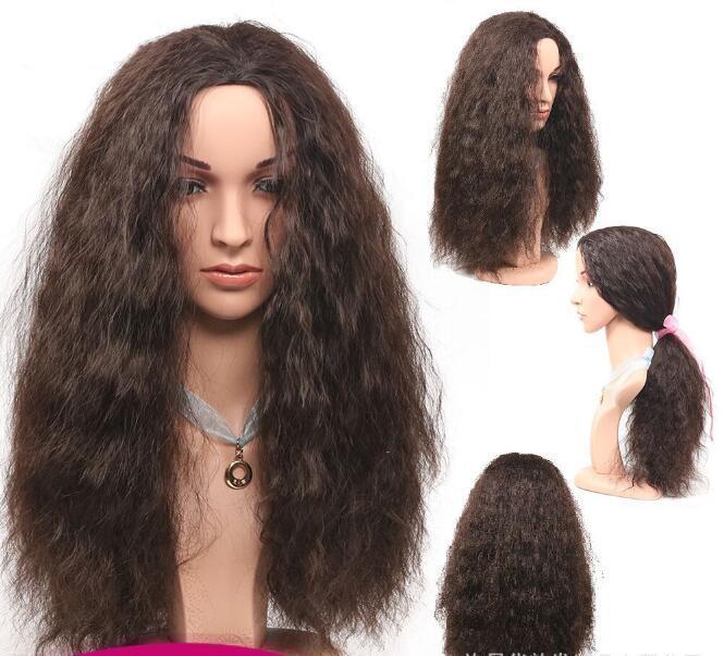 Livraison gratuite en gros Europe et États-Unis Fashion Lifelike Fibre Chimique Couverture de cheveux Femmes de maïs Chaud Bubble Chaud Nouille Fabricant