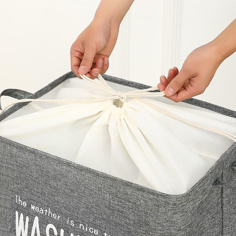 Panier de vêtements sale panier pliable blanchisserie saut de rangement bac de rangement pour la maison Q1215
