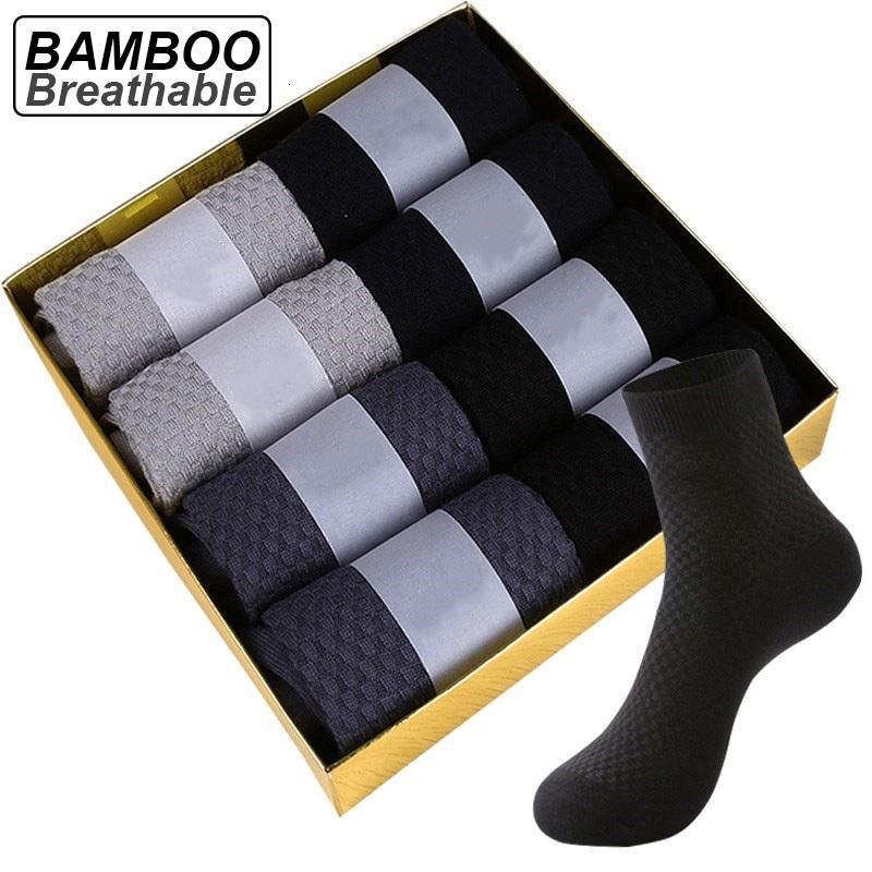 Marke Bambusfasern Neue Schwarze Materie Atmung Deodorant Kompression Männer Lange Socken Große Größe EU38-48